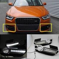2pcs White Daytime Running Light Driving Fog Lamp DRL for Audi Q3 2012-2015 AB