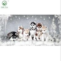 Animals Series Diy Diamond Painting Huskies Dog Full Drill Mosaic Rhinestone Embroidery Cross Stitch Kit Needlework