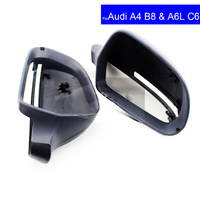 Black Car Exterior Parts Rear View Side Mirror Cover For Audi A4 B8 A6L C6 2009