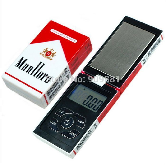 100g 0.01g Mini balanzas electrónicas de joyería de bolsillo 0.01g Estuche de cigarrillo digital Gram Escala de peso Diamante Oro Balance de peso