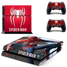 Spiderman Spider Man PS4 Skin Sticker Decal Vinyl for Sony Playstation 4 Console and 2 Controllers PS4 Skin Sticker