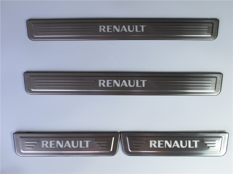 High quality stainless steel LED Scuff Plate/Door Sill Protector Sticker For Renault Koleos 2017 2018 4pcs/set Car Styling for hyundai new tucson 2015 2016 2017 stainless steel skid plate bumper protector bull bar 1 or 2pcs set quality supplier