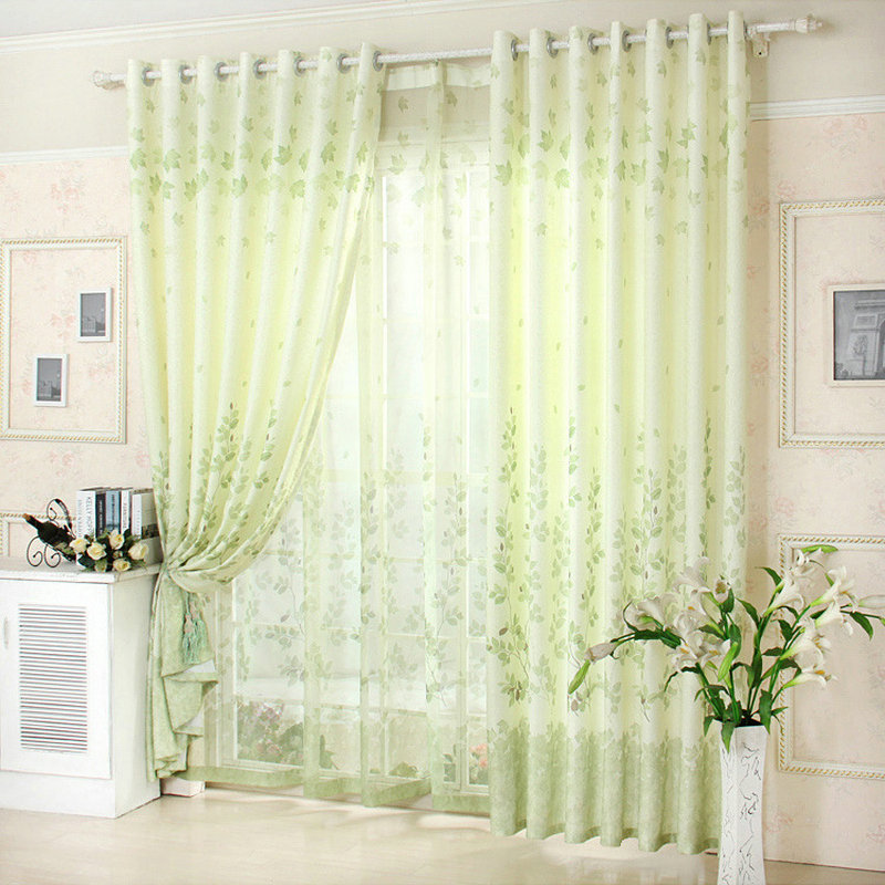 Aliexpress Buy New Arrival Blue Green Gray Window Curtain For Living Room Floral Kitchen Curtains Summer From Reliable