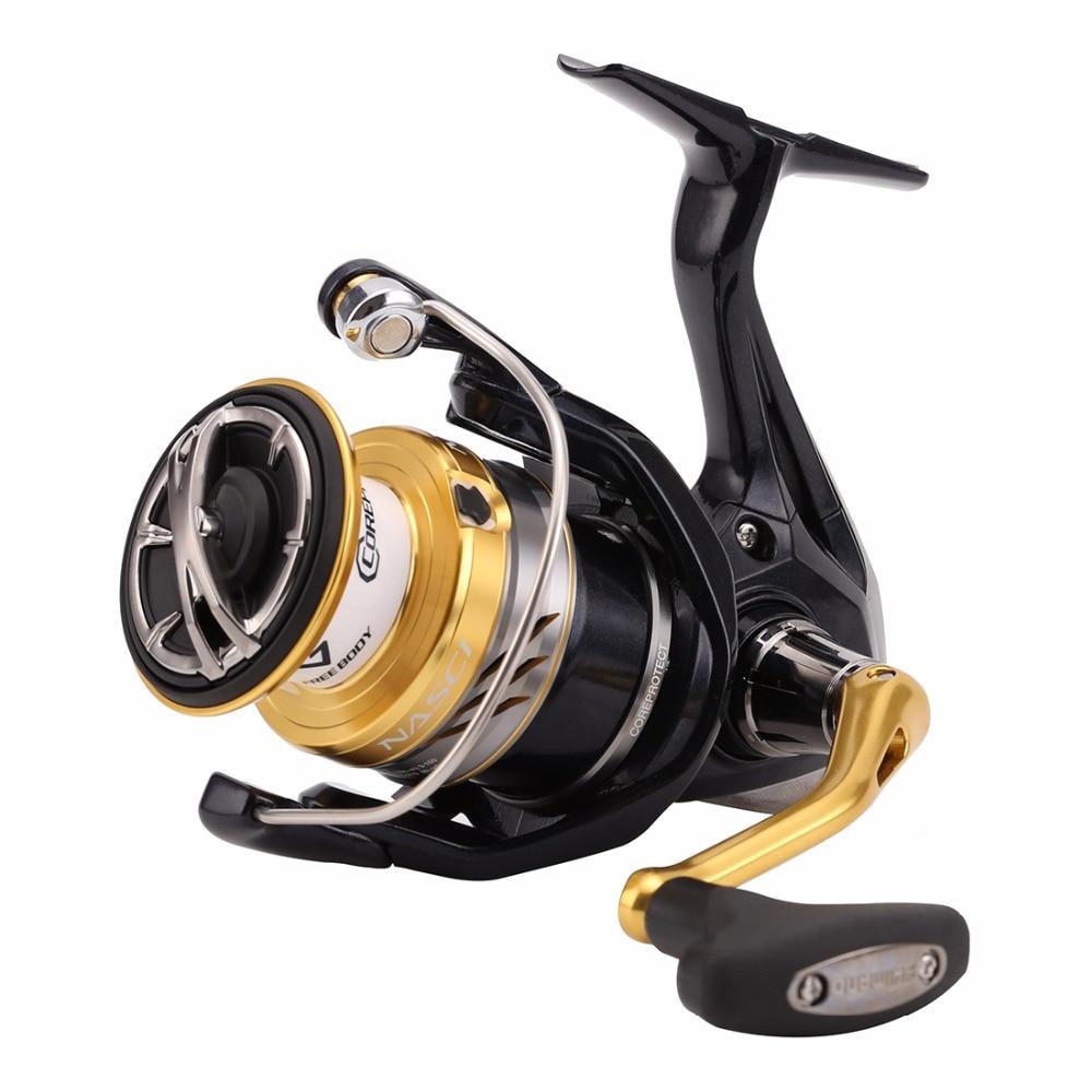100 Original SHIMANO NASCI 1000 2500 3000HG 4000XG C5000XG Spinning Fishing Reel Deep Cup 5BB Hagane