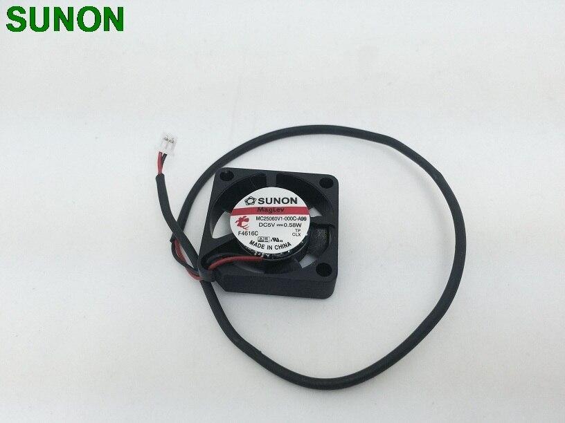 Origianl Sunon MC25060V1-000C-A99 2506 2.5 CM DC 5 V 0.58 W petit micro calme ventilateur axial