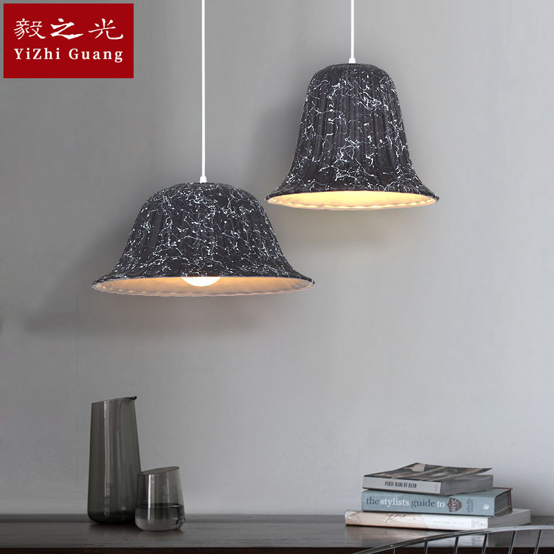 Nordic art single head chandelier, bar, coffee shop, modern simple personality ceiling lamp restaurant lighting new nordic aluminum ceiling lamp creative personality simple fashion bedroom bar restaurant chandelier