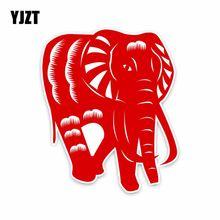 YJZT 12.9 CENTÍMETROS * 15.5 CENTÍMETROS Red Elephant Animal PVC Etiqueta Do Carro Decalque Acessórios Do Carro 5-2017