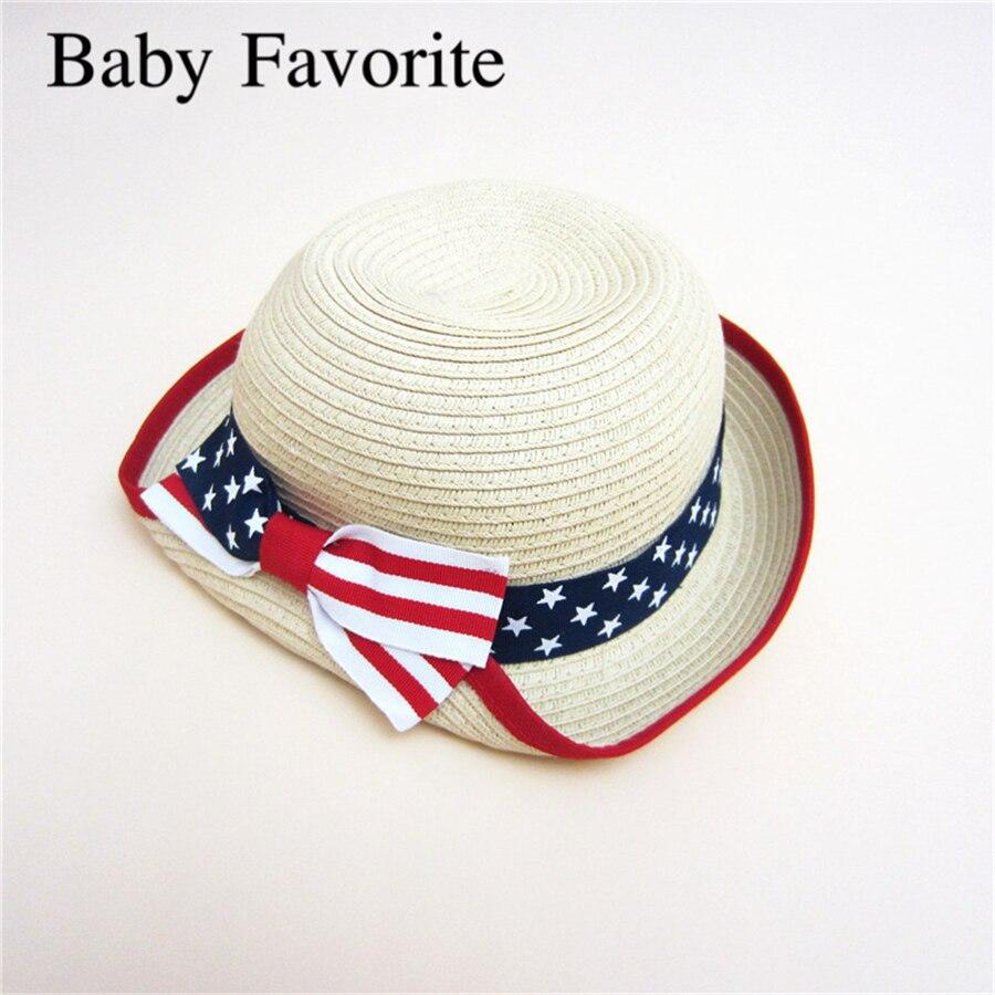 The New Spring Summer Girls Czapki Bow Cap Children's Sunscreen Sun - Odzież dla niemowląt - Zdjęcie 1