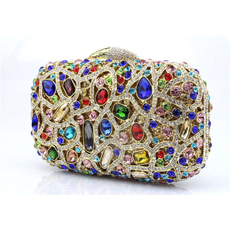 Luxury Women Evening Bags Sapphire Blue Diamond-encrusted Dress Bag For Dinner Party Wedding Mini Clutch Rhinestone Bags kenneth cole 10026782