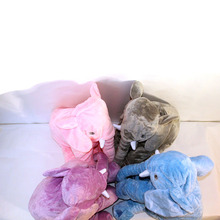 купить LREA Cartoon 40/60cm Large Plush Elephant cushion Kids Sleeping Back  stuffed Pillow Elephant Doll онлайн