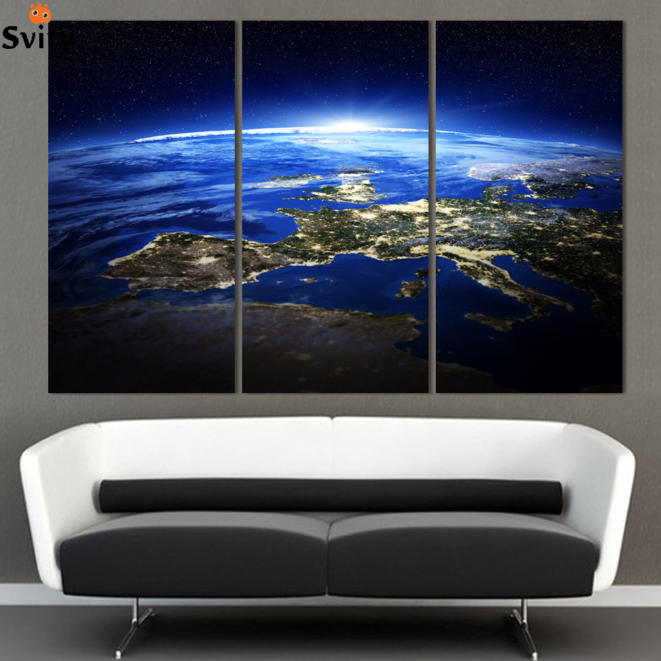 aliexpresscom  buy  panel modern sunrise space universe picture  - aliexpresscom  buy  panel modern sunrise space universe picture paintingcuadros wall decor canvas art home decor for living room(no frame) fromreliable