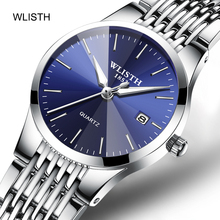 WLISTH Couple Watches Fashion Casual Quartz Watch for Lovers Business Men Women Ultra-thin Wristwatch Stainless Steel Luminous onlyou new style lovers watches mesh steel watchband women fashion diamond quartz watch men business waterproof clock couple