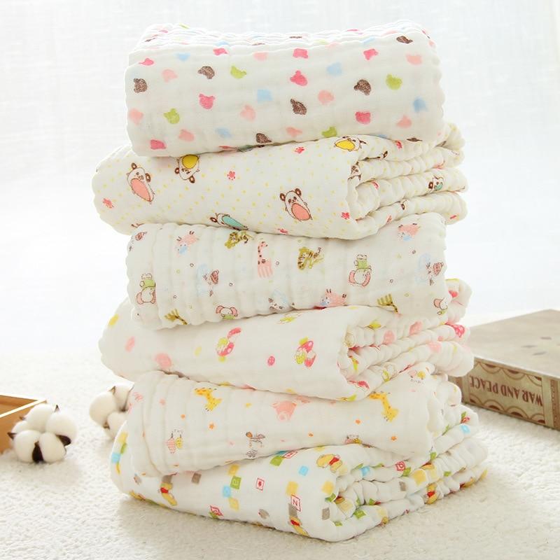 Mantas de muselina para bebés Envoltura de envoltura de algodón - Ropa de cama - foto 5