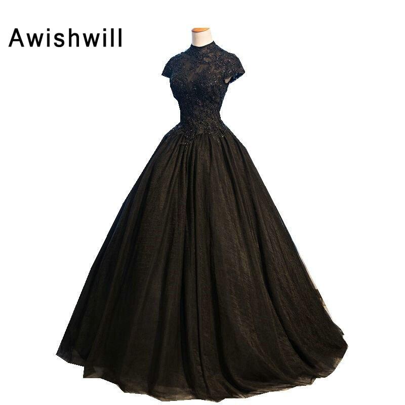 Real Photo Black Formele Avondjurk Voor Party Robe de Soiree Vestido - Jurken voor bijzondere gelegenheden