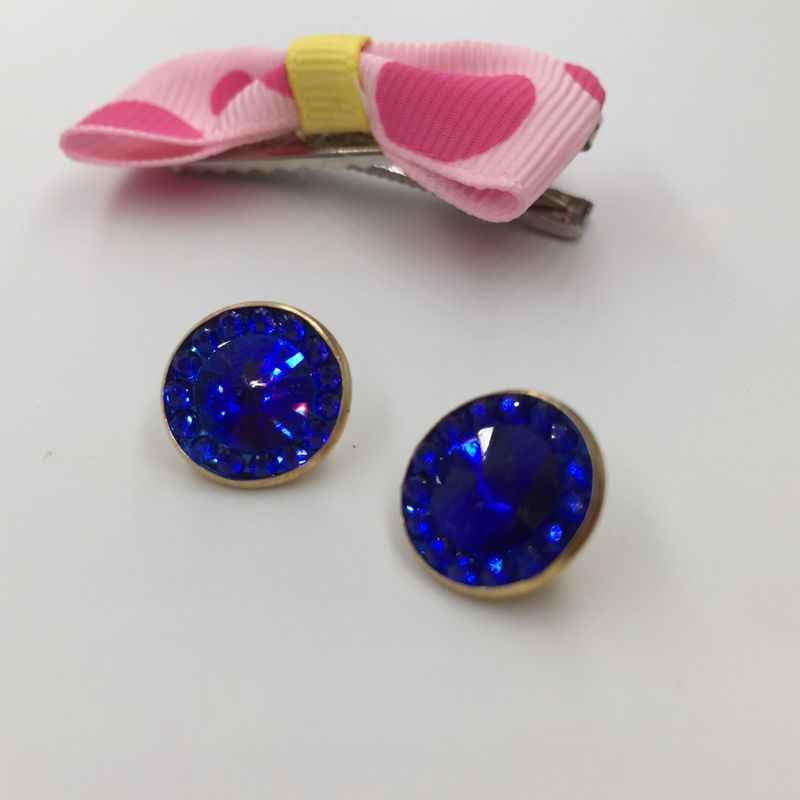 13 millimetri di nuova alta qualità zaffiro blu di cristallo pulsanti 13 millimetri accessori per il cucito FAI DA TE essenziale di plastica t-shirt pulsanti FC811