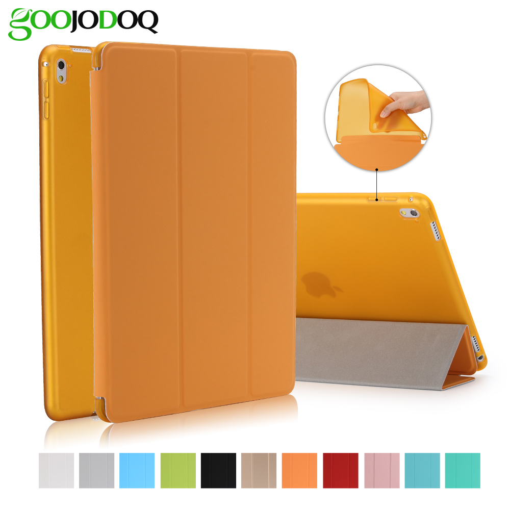 For <font><b>Ipad</b></font> Pro 9.7 Case,For Apple <font><b>Ipad</b></font> Mini 1 2 3 Slim Pu Leather Smart Cover With Tpu Silicone Soft Back Shell For <font><b>Ipad</b></font> Pro <font><b>Coque</b></font> image