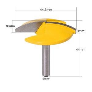 """Image 2 - Broca enrutadora de tazón pequeño, vástago de 6mm, 1 1/2 """"de radio 1 3/4"""", cuchillo de puerta ancha, cortador de carpintería RCT, 1 ud."""