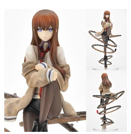 24cm Steins Gate Makise Kurisu 1/8 Scale PVC Action Figure Collection Model Toy Christmas Gift 24cm pvc deadpool action figure breaking the fourth wall scene dead pool kids birthday christmas model gift toys