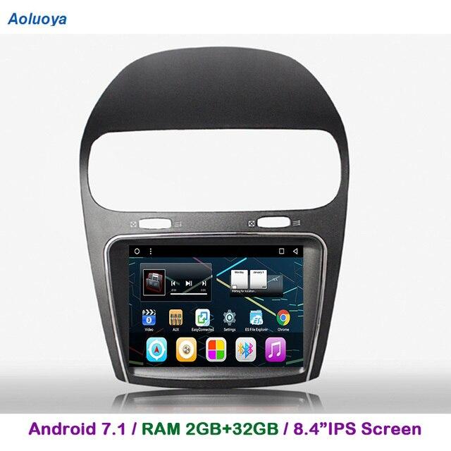 "Aoluoya 8.4""IPS RAM 2GB+32GB Android 7.1 CAR DVD Player For Fiat Freemont 2012 2013 2014 Radio GPS Navigation multimedia  WIFI"