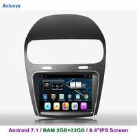 Aoluoya 8.4IPS RAM 2GB+32GB Android 7.1 CAR DVD Player For Fiat Freemont 2012 2013 2014 Radio GPS Navigation multimedia WIFI