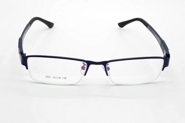 Semi-rim aleación de moda azul ULTRA ligero marco de los vidrios por encargo miopía óptica y lente gafas de lectura + 1 + 1.5 + 2 + 2.5 + 3TO + 6