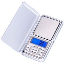 DHL 200PCS 500g x 0.1g 200gx0.01g Mini Digital Jewelry weigh Scale Balance Pocket LCD Display With Retail Box(China)