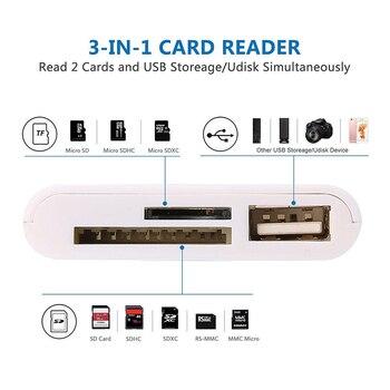 03c11277f637f Kit de conexión de la cámara 3 en 1 lector de tarjetas para Tablet iPad 4