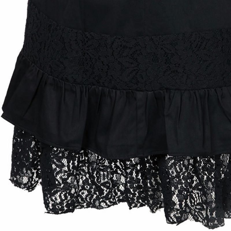 Steampunk Hip Vintage Negro Estilo Faldas Clubwear Niñas Gótico Steelsir Rock Falda Mujeres Encaje Volantes Punk Nuevo blanco 2018 Negro FcaY7Wf