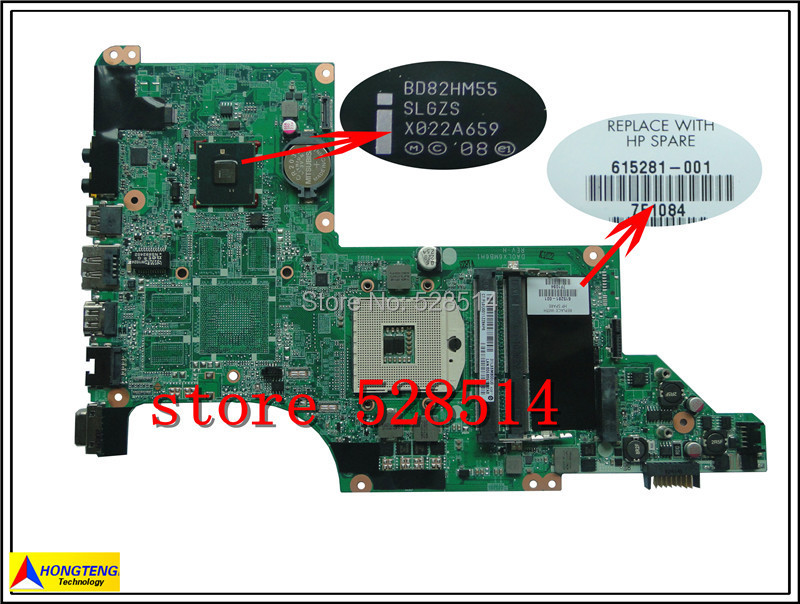 original 615281-001 Motherboard for HP DV6 DV6-3000 Notebook Series mainboard /System Board 100% Test ok бензопила patriot pt 3816 imperial 220105515