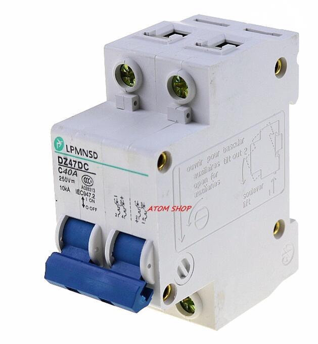 все цены на DC 2P 40A Circuit breaker MCB 2 Poles Solar Energy Photovoltaic PV Mini DC Circuit Breaker antiflame rohs