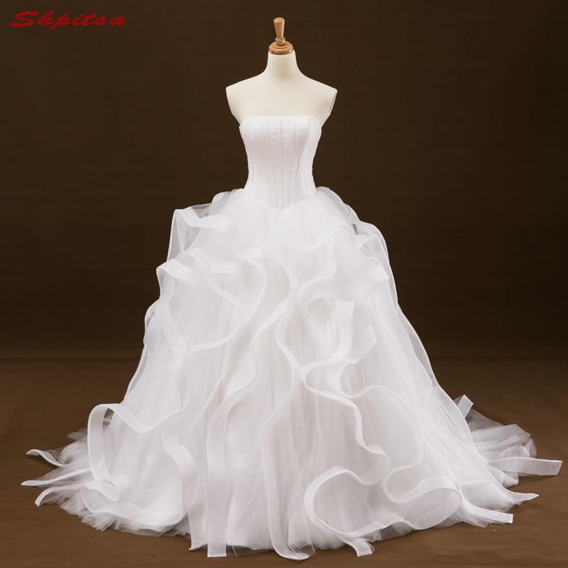 Ruffle Ball Gown Wedding Dress: Ball Gown Wedding Dress Ruffle Bridal Wedding Gowns Bride