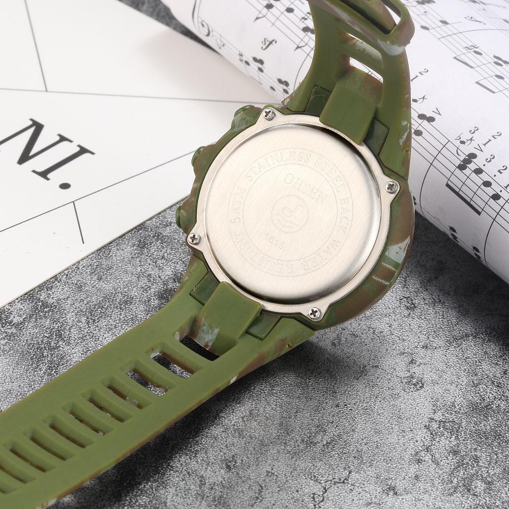 OHSEN Shock Vattenbeständig Gummi Camouflage Watch LED Sport - Herrklockor - Foto 6
