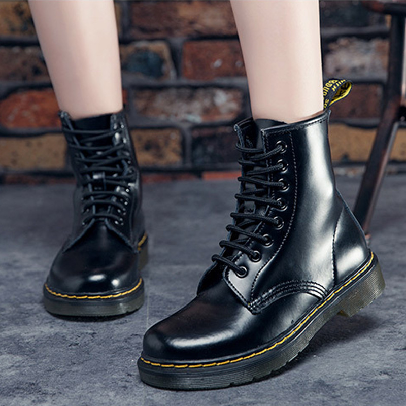 2017 Women Boots Lace Up Women Ankle Boots Fur Brand Winter Women Shoes Fashion High Top Quality z suo brand new winter women motocycle boots leather lace up ankle martin boots shoes black brown high quality