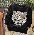( 1 unid/lote ) 100% algodón 2015 la cabeza del tigre bebé prendas de vestir exteriores