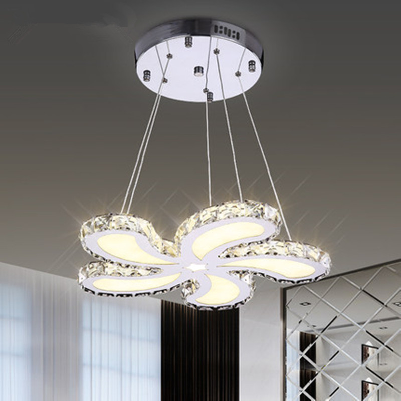 simple modern LED crystal lamp flower ceiling lamps warm living room bedroom study lighting  ceiling light ZA923147 noosion modern led ceiling lamp for bedroom room black and white color with crystal plafon techo iluminacion lustre de plafond