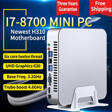 MSECORE i7 8700 Gaming Mini PC Windows 10 Desktop Computer game pc linux intel Nettop barebone system HTPC UHD630 Graphics WiFi