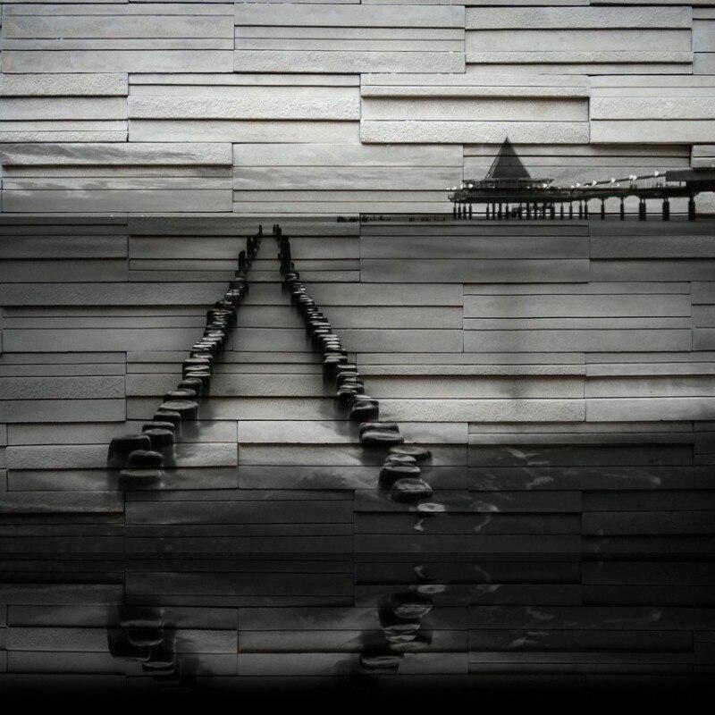 Пользовательские фото обои прибрежных Приморский Pier эстакады море Современный 3D стерео росписи гостиная Ресторан пользовательские обои
