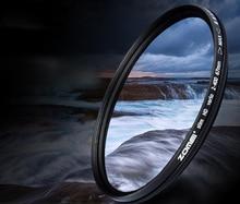 Nova 67mm Vidro Óptico Magro Fader ND Variável ND2 para ND400 Ajustável Neutral Density Filtro Cinza para 67mm lente