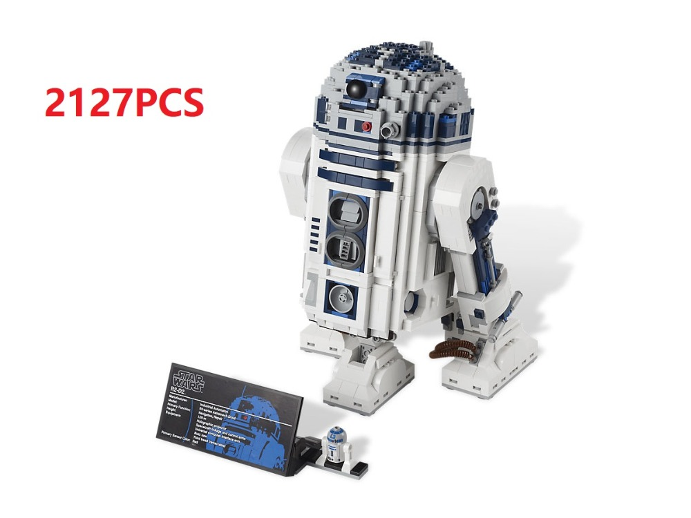 Lepin Star war 2127pcs Building Blocks toys for Children R2 and D2 Robot model boys gift Bricks Compatible Legoes Star war 10225 new 2127pcs lepin 05043 star war series r2 d2 the robot building blocks bricks model toys 10225 boys gifts