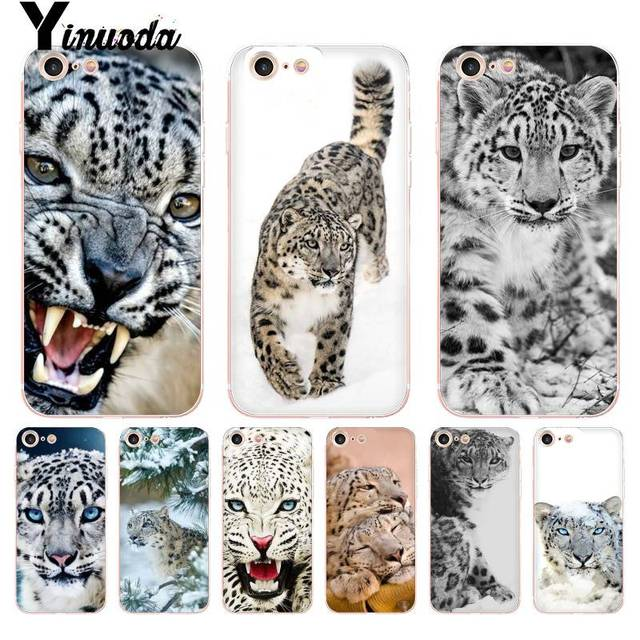 the best attitude 35fc8 b712e US $0.73 43% OFF Yinuoda For iPhone 7 6 X Case Snow Leopard animal  Transparent Phone Cover Case for iPhone 8 7 6 6S Plus X 5 5S SE XR XS  XSMAX-in ...