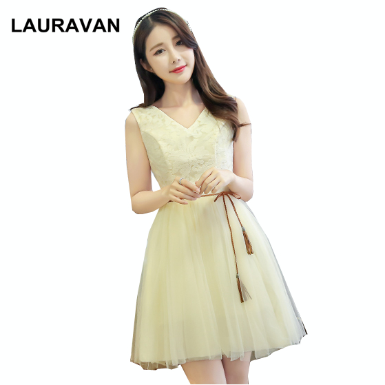 princess knee length   bridesmaid     dress   2019 sexy short special occasion party   dresses   2018 vestidos champagne corto ball gown