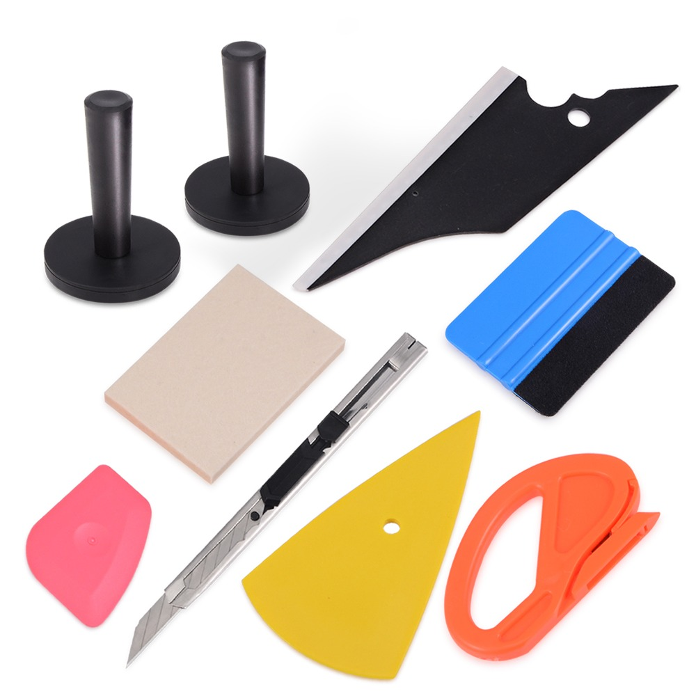 EHDIS Vinyl Wrap Carbon Fiber Film Squeegee Scraper Kit Magnetic Magnet Holder Car Styling Sticker Accessories Cutter Knife Tool-in Scraper from Automobiles & Motorcycles