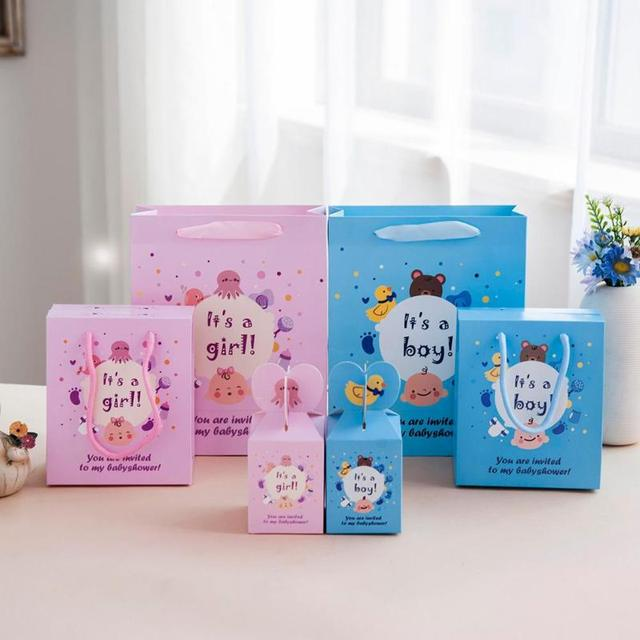 Baby shower Gift bags   boxes Birthday Banquet Baby birth Candy Box  Exquisite gift Decoration Packing 3235f3866