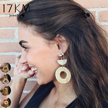 6 Design Bohemian Weave Oversize Chandelier Earrings For Women Girl Brincos Big Earring Handmade Statement Jewelry 2018 New(China)