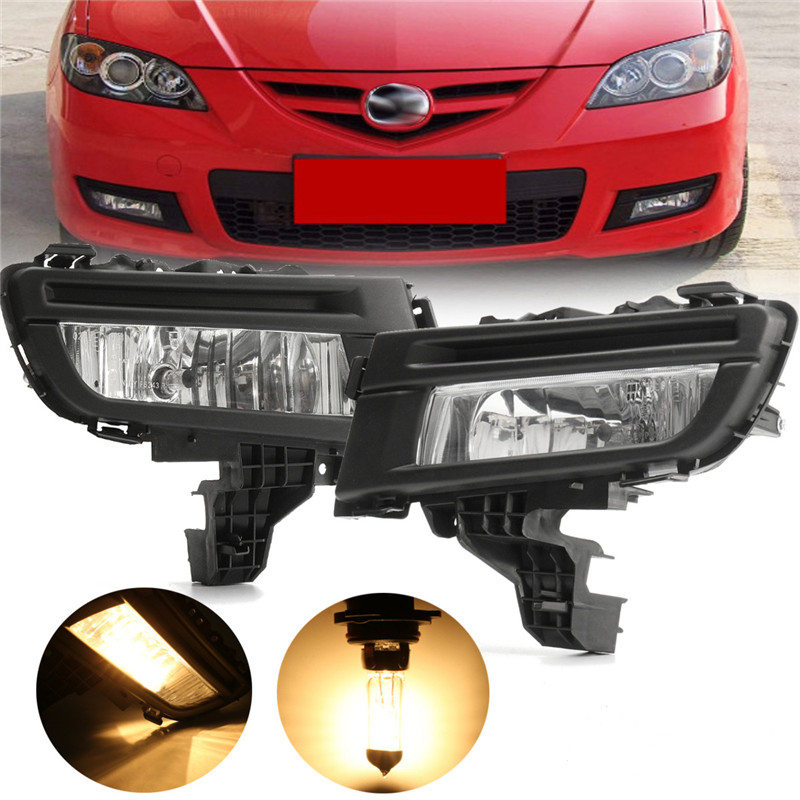 1 Pcs Front Fog Light Lamp 12V 51W Front Left + Right Side Replacement For Mazda 3 2007 2008 2009 Car Accessories 2 pcs set car styling front bumper light fog lamps for toyota venza 2009 10 11 12 13 14 81210 06052 left right