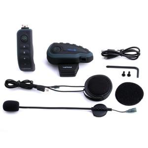 Image 4 - Vnetphone V8 Bluetooth Intercom Motorcycle Helmet Headset NFC Remote Control FM Waterproof 5 Riders Duplex Wiresless Intercom