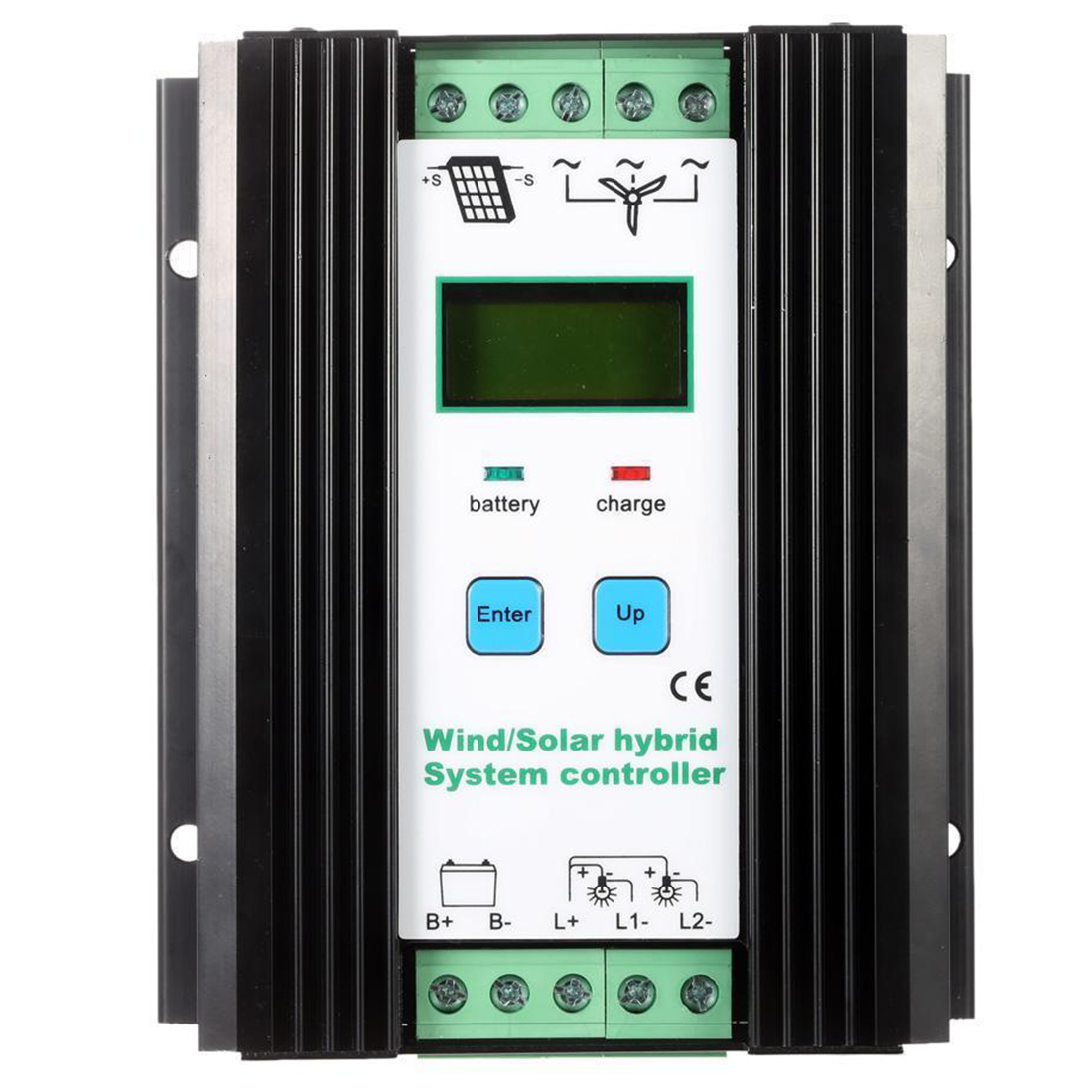 Wind&Solar Hybrid PWM Controller(600W Wind+400W Solar) 12V/24V Automatic wind and solar hybrid controller 600w with lcd display charge controller for 600w wind turbine and 300w solar panel 12v 24v