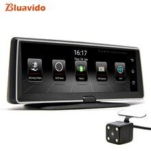 Bluavido 8 «ips 4 г Автомобильный dvr gps навигации Android ADAS FHD 1080 P тире камера регистраторы двойной объектив ночное видение авто видеорегистратор