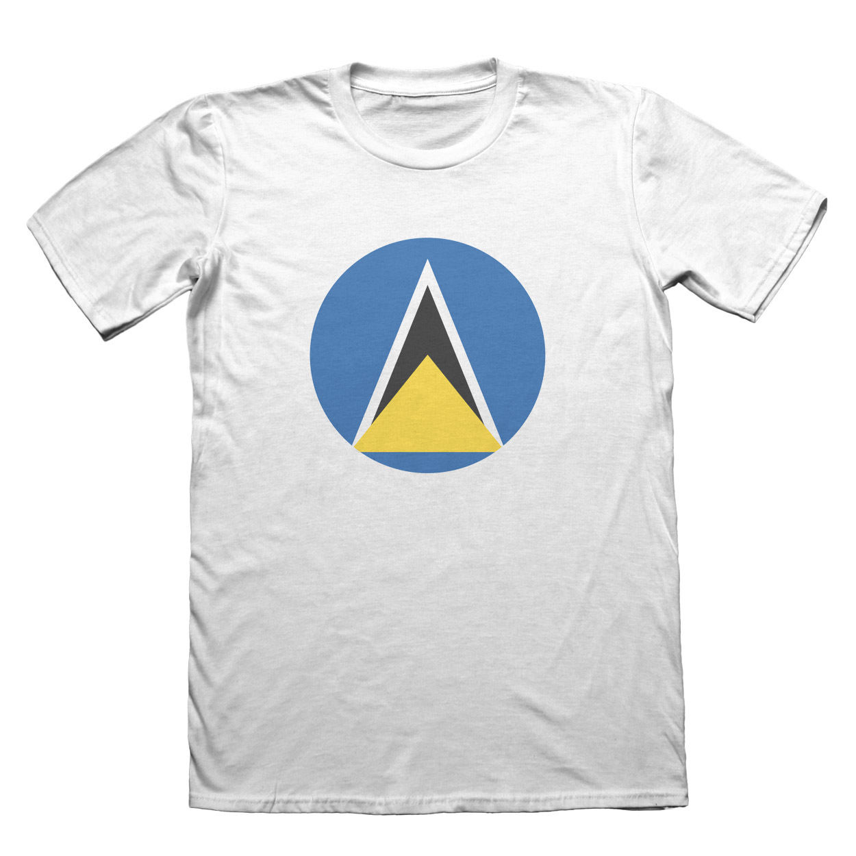 Saint Lucia Flag T-Shirt - Mens Fathers Day Christmas #9068