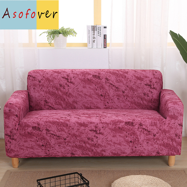 US $16.98 49% OFF|Pure Color Navy Red Sofa Cover Elastic Sofa Slipcover  Stretch Furniture Covers Protector Sofa Covers For Living Room Couch-in  Sofa ...
